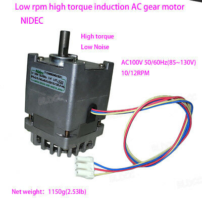 NIDEC 71I0488004G 100V 55W Low RPM High Torque Low Noise Induction AC Gear Motor