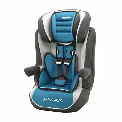 OFFER!! Nania I-Max Group 1/2/3 9 to 36kg Baby Child Car Seat Agora Petrole Blue