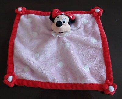 B2G / doudou plat rose rouge pois blancs MINNIE DISNEY