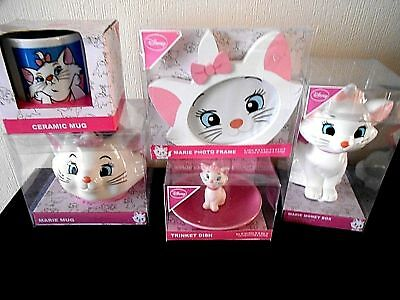 Disney Aristocats Marie The Cat Money Box Photo Frame Cup Trinket Dish Primark