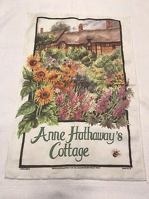 Anne Hathaways Cottage  William Shakespeare Birthplace Linen Towel Dishcloth J18