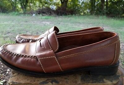 0c82436104b Cole Haan Douglas Penny Loafers Men s Brown Slip On Loafers Sz 9.5 01462