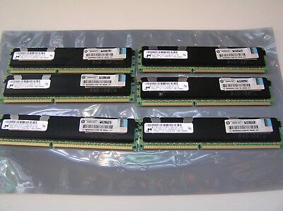 HP DL380 G7 48gb (6 x 8GB ) 2R X4 PC3-10600R Server HP P/N 500205-071 MEMORY