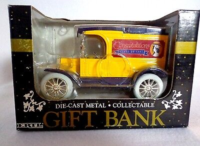 "Ertl Coin Bank With Markings  ""congratulations-Class Of 1991""- Diecast 1:24-Nib"