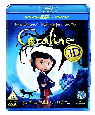 Coraline (2009) 3D + 2D Blu-Ray BRAND NEW Free Shipping