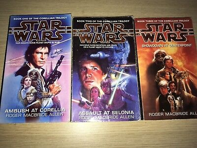 Star Wars Corellian Trilogy Novels Set of 3 Books