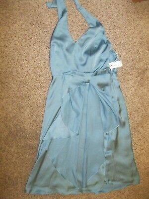 b529ed79b3b26 NWT The Limited Event Womens Size 0 Halter Teal Dress Special Occasion MSRP  89.