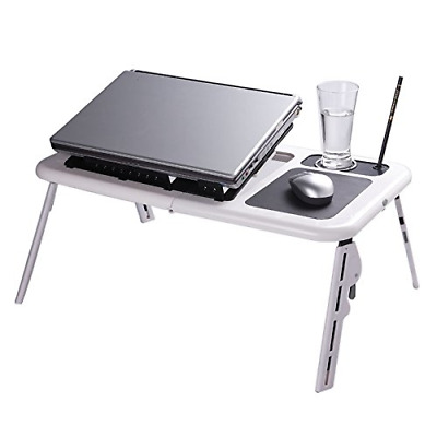 PC Table Stand Workstation Folding Laptop Desk Adjustable USB Notebook NEW HOT