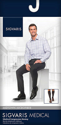 SIGVARIS MIDTOWN MICROFIBER for Men CALF or THIGH HI, All Levels, Sizes & Colors