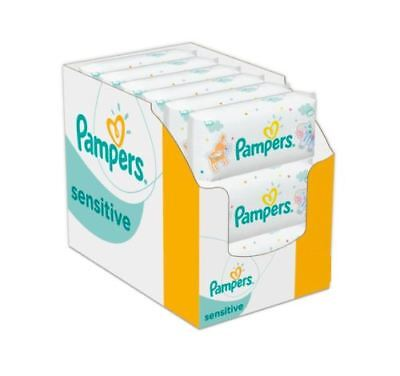 Pampers Sensitive Protect Baby Wipes 4 8 12 18 Packs, 56 Wet Wipes per pack