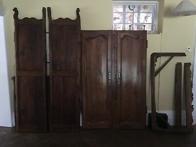 Antique French Armoire Wardrobe Wood 18th Century 8ft Tall Very Large Hampshire