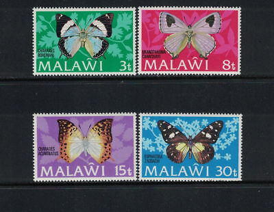 Malawi 1973: #199-202 Butterflies NH; Insects: Lot#10/28