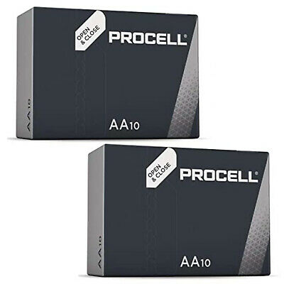 20 x Duracell AA Industrial Alkaline Batteries, 1.5V LR6 MN1500 Replaces Procell