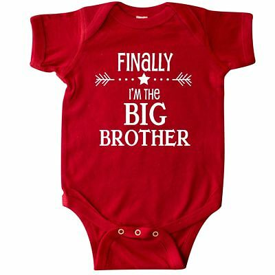 Inktastic Finally Im The Big Brother Infant Bodysuit Siblings Little Sister New