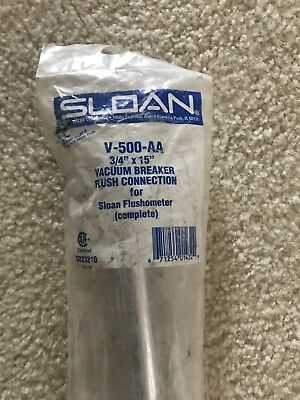 "Sloan 0323210 V-500-AA 3/4"" x 15"" Vacuum Breaker Flush Connection for Flushmeter"