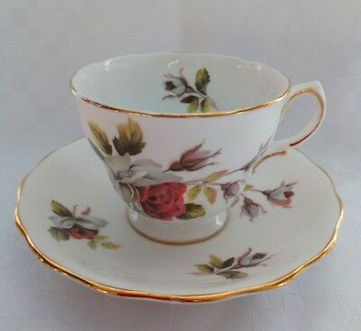 Royal Vale  Bone China England Set Tea/Coffee Cup and Saucer Pattern Rose