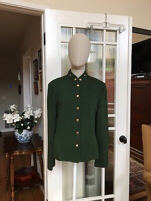 St John Collection Knit Jacket Green Size 8