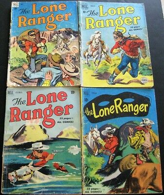 LONE RANGER # 11 19 30 31 (lot of 4) DELL PUBLISHING - TONTO - SILVER - SCOUT