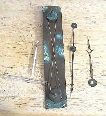Genuine Antique Barometer Rack and Hands with Glass Weights circa 1840