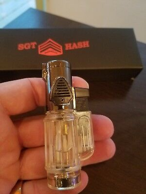 SGT HASH Pocket Torch Lighter 3 Flame Windproof CLEAR