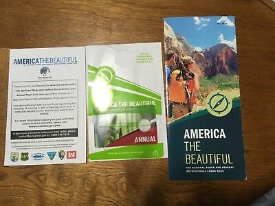 National Parks America The Beautiful Annual Pass Card Usa