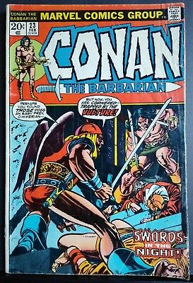 Conan The Barbarian #23 1st Appearance of Red Sonja Marvel Key Comic Mid Grade