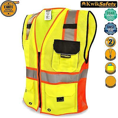 Safety Hi Viz Vest 360° High Visibility Reflective Work Kwiksafety Class 2