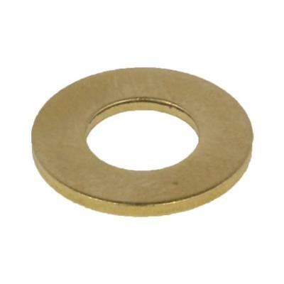 "Qty 20 Flat Washer 1/8"" x 3/8 x 21g BRASS Imperial Round"