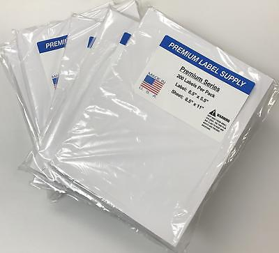 """Premium Label Supply 8.5 """" x 5.5"""" Half Sheet Self Adhesive Shipping Labels for"""