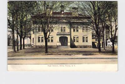 Antique Postcard New York White Plains High School Exterior Undivided Back