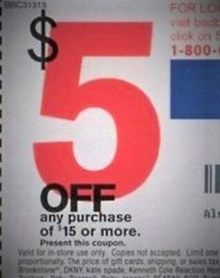 7 Bed Bath & Beyond Coupons--$5 off $15