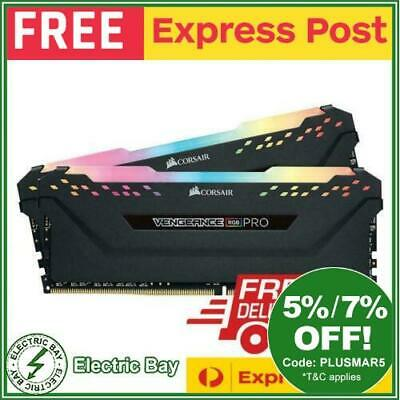 Corsair Vengeance RGB PRO 16GB 2x8GB 3200MHz C16 DDR4 Black Desktop Memory Kit