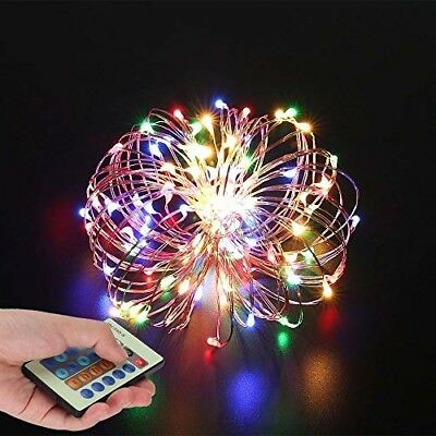 String Lights,Wire Light Dimmable With Remote Control, String Light Colorful