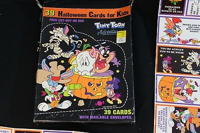 Vintage TINY TOON ADVENTURES Opened Set of 38 Halloween Cards - No Envelopes WB