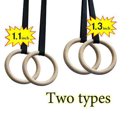 Wood Gym Rings Wooden Gymnastic Rings Fitness Exercise Rings for Body Training