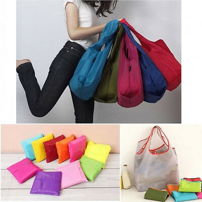 Reusable Storage Eco Friendly Shopping Bag Folding Large Grocery Bag Tote Wide