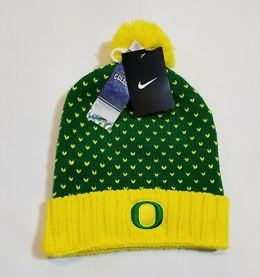 outlet store 6fe42 cad01 Nike Oregon Ducks Knit Beanie Hat Cap Apple Green - Genuine College Product!