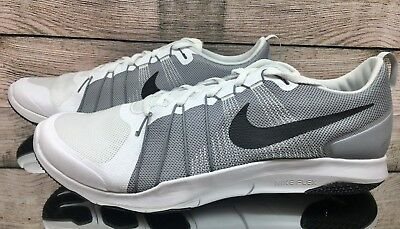 buy popular a1c3f b8e05 Nike Flex Train Aver White Grey Black 831568-100 Training Shoes Men s Size  15
