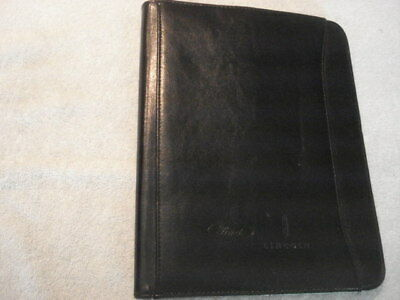 "Ford & Lincoln Dealers Leather 8-1/2 X 11"" Notebook Portfolio w/Pad"