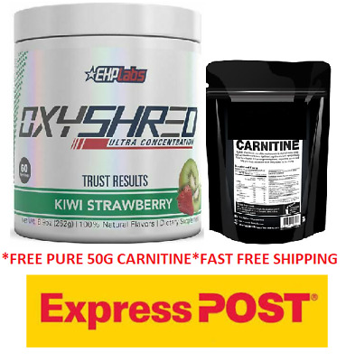 Ehplabs Oxyshred Thermogenic Fat Burning Ehp Labs Oxy Shred Free 50G Lcarnitine.
