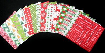 "CHRISTMAS JOY ~ Christmas Scrapbooking/Cardmaking Papers 15cm x 15cm (6 ""X 6"")"