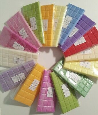 Highly Scented Soy Wax Melt. Block, Candle Tart, Bar 120 Fragrances