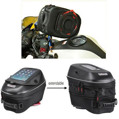 Motorcycle Alloy Tanklock Attach 23L Black Tank Bag Luggage Backpack for Suzuki