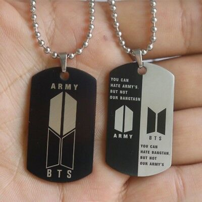 KPOP BTS Bangtan Boys ARMY Stainless Necklace Pendant Fashion Jewelry SUGA UK