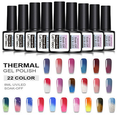 12ml LEMOOC Color Changing Gel Polish Nail Art Soak-off Thermal UV Gel Varnish