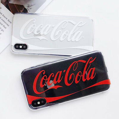TPU Coca Cola Silicone Clear Crystal Case Cover For iPhone X 8 7 6/6s Plus Cool