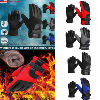 Men Winter Touch Screen Thermal Gloves Windproof Skidproof Outdoor Driving Glove