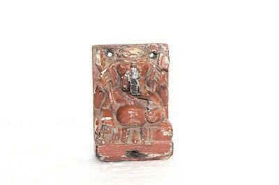 1900s Old Vintage Indian Wooden Ganesha Statue Home Decor Collectible PF-93
