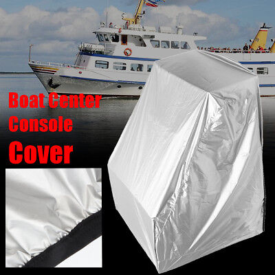 "Silver Waterproof Heavy Duty Boat Center Console Cover Protection 45""H*46""W*40""D"