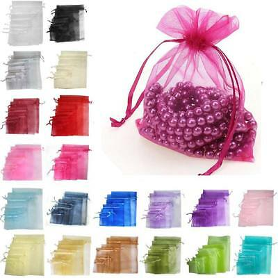 100 50 Extra Large Organza Gift Bags Jewellery Pouches Wedding Party Candy XMAS
